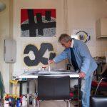 Marcel Hinze aan het werk