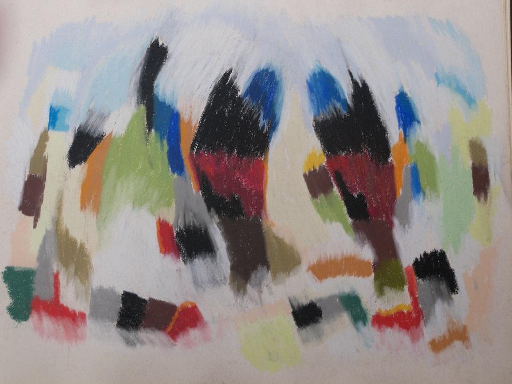 soft pastel op papier 50x65 cm