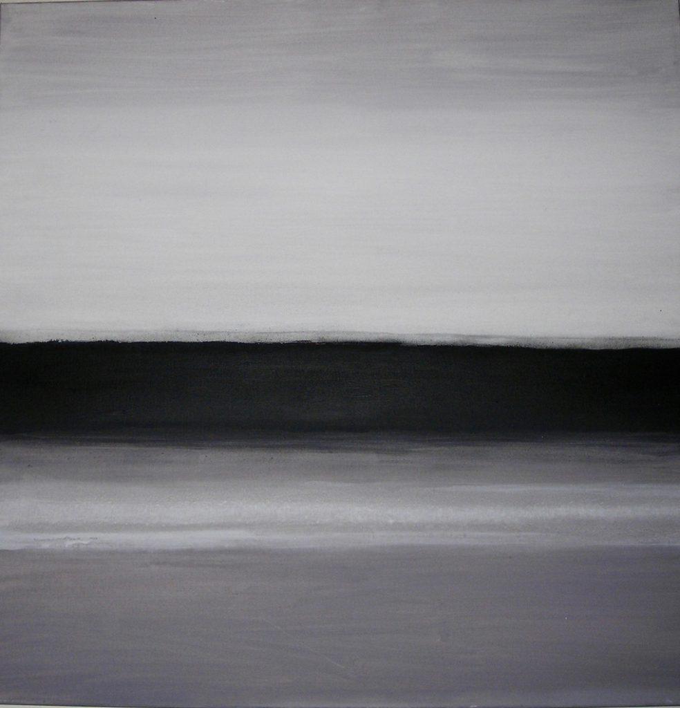 Vele tinten grijs 2 - acryl op linnen 80x80 cm